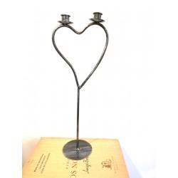Dekoracja świecznik serce...