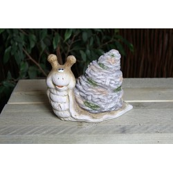 Figurka ślimak ceramiczny w...