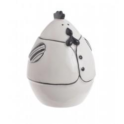 Figurka kura ceramiczna...