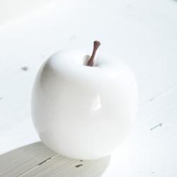 Dekoracja jabłko białe...