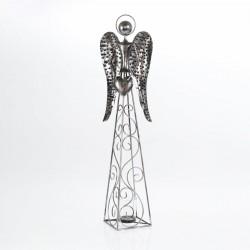 Dekoracja anioł metalowy ze...