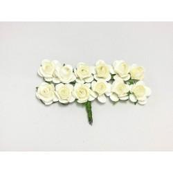 Róża papierowa biała