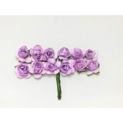Róża papierowa fioletowa