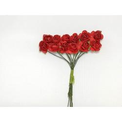 Róża papierowa czerwona