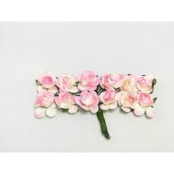 Róża papierowa różowa