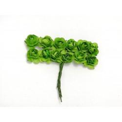 Róża papierowa zielona