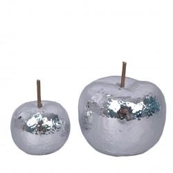 Jabłko ceramiczne srebrne...