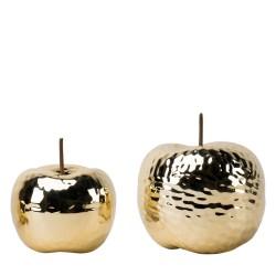 Jabłko ceramiczne złote