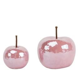 Jabłko ceramiczne różowe...