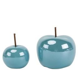 Jabłko ceramiczne niebieskie