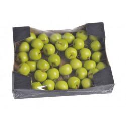Jabłka na drucie zielone...