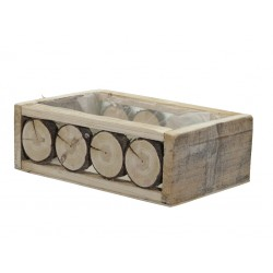 Osłonka na donice drewniana...