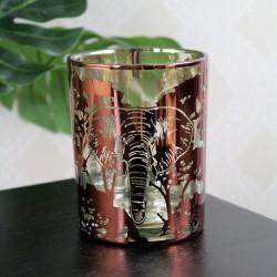 Lampion szklany ze słoniem...
