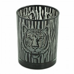 Lampion szklany z tygrysem...